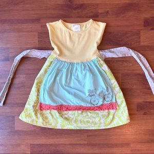 Persnickety 3 Years Bicycle Apron Dress